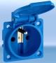 Zásuvka vestavná IP54 modrá vč. těsnění, 250VAC